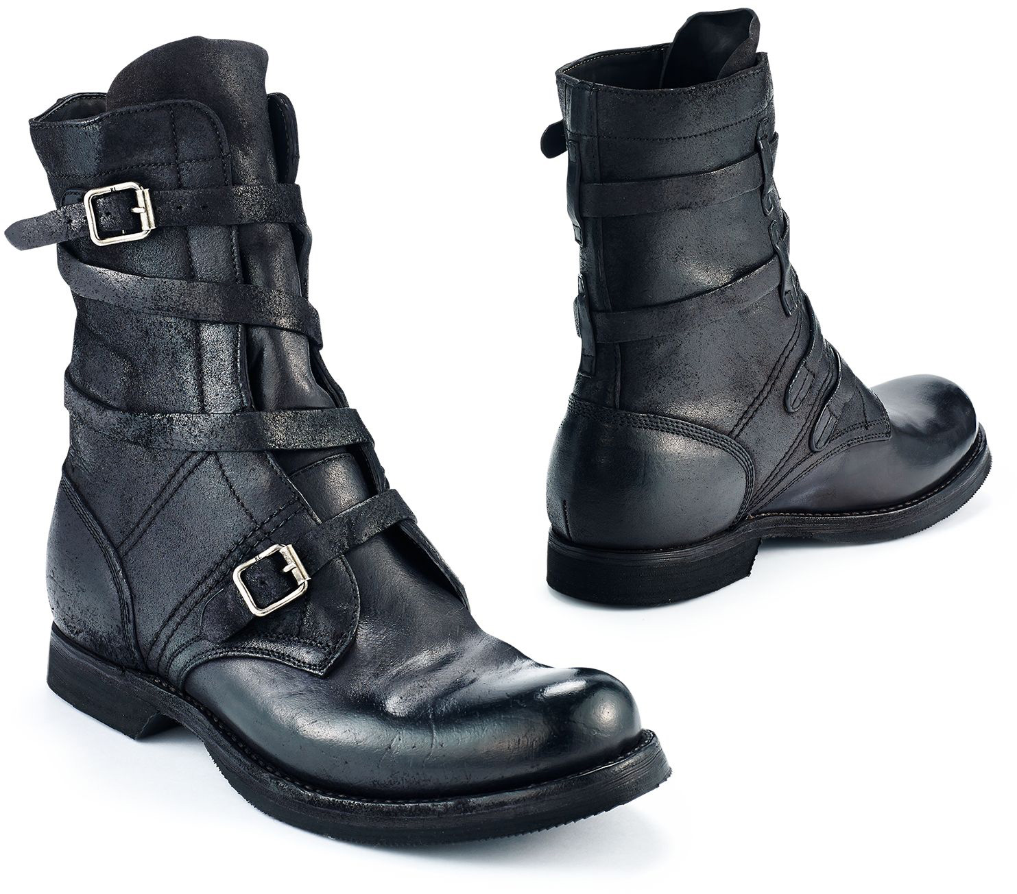 Buckled Leather Boot